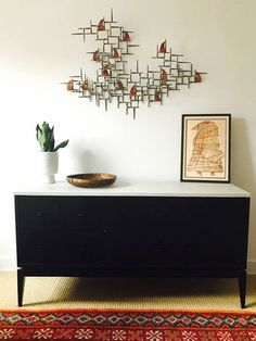 "Stunning brutalist abstract wall metal wall sculpture in the style of William Bowie, circa 1960s. Brass, copper, and iron. Dimensions: 43"" x 29"" Local available for a small fee."