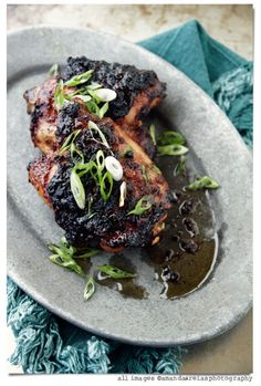Holiday menus: Cider Glazed Chicken Thighs via give me flour