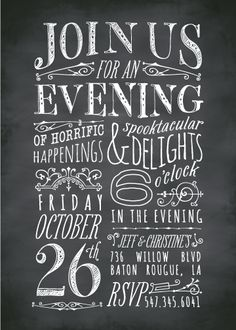 party invitations - Chilling Chalk by Sarah Brown
