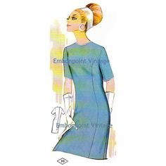 Plus Size (or any size) Vintage 1969 Women's Evening Dress Pattern - PDF - Pattern No 30 Ruth