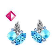 Neoglory Jewelry fashion earrings with Swarovski element crystal... via Polyvore