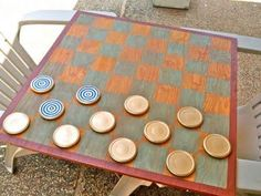 DIY Crafts DIY Checkered : DIY Giant Checkerboard Diy Yard Games, Diy Games, Giant Checkers, Wood Crafts, Diy Crafts, Diy Wood, I Do Bbq, Apt Ideas, Diy Tutorial