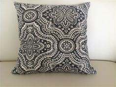 Boho Charcoal  White Cushion Covers. 45x45cm.