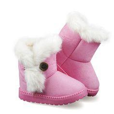2757cd9677b19 ENFANTS D hiver De Mode enfant filles bottes de neige chaussures chaudes en  peluche fond