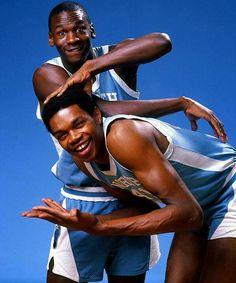 Michael Jordan and Sam Perkins. #Bulls #Basketball #TarHeels
