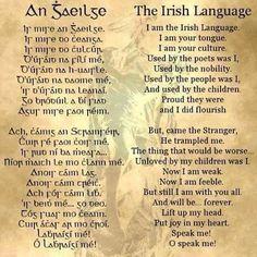 A land without its language is a land without a soul. Irish Gaelic Language, Gaelic Irish, Viking Meaning, Learning Languages Tips, Irish Names, Irish Eyes Are Smiling, Irish Celtic, Poetry Quotes, Knowledge