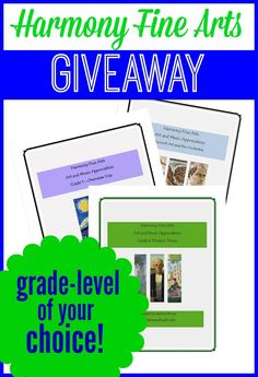 Harmony Fine Arts Giveaway - Grade level of our Choice