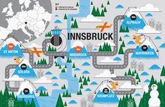 John Devolle Innsbruck ski map