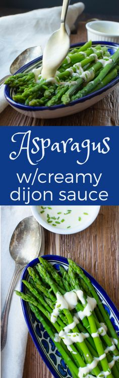 Need an easy sauce for asparagus? The dijon sauce for this Creamy Dijon Asparagus takes about 2 minutes to assemble and makes a great dressing for steamed or blanched asparagus. Serve hot or cold for a delicious gluten-free, vegetarian side dish. #asparagus #dijonsauce #creamydijonsauce #dijondressing #lemonsauce #sauceforvegetables #fastsauce #easysauceforvegetables #easysauceforasparagus #asparaguswithdresssing #creamysauce #mayonnaise #lemon #mustardsauce #asparaguswithcreamydijonsauce…