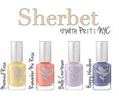 Sherbet Nail Polish by @Priti NYC | nontoxic nails #naturalbeauty | Better Organic Choice via Organic Spa Magazine