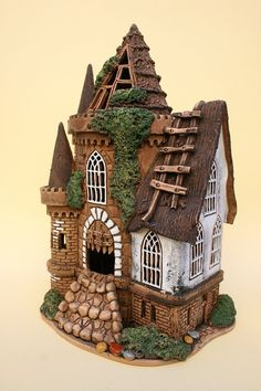 Ceramic Houses & Sculptures- combine wheel, slab, pinch or coil