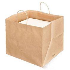 Sacchetti/Shoppers porta scatole pizza cm 37+33x32 cm Avana