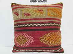 20x20 kilim pillow 20x20 euro sham cover by DECOLICKILIMPILLOWS