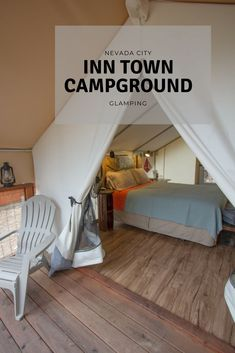 Glamping at the Inn Town Campground Tent Camping, Glamping, Communal Kitchen, Luxury Tents, Nevada City, Vacation Trips, Vacation Destinations, Outdoor Seating, Swimming Pools