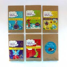 Envelope Garden - 6 Pack - Was $30, now $25 NZD Grow Kit, Puns, Envelope, Cereal, Crochet Hats, Garden, Clean Puns, Knitting Hats, Envelopes