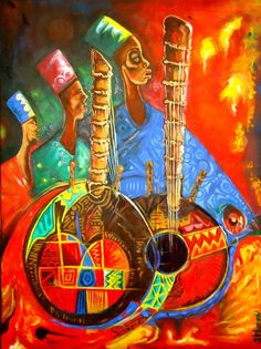 kora beauty, 2012 by Egunlae Olumide - Oil Painting