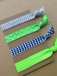 Seattle Seahawks No Crease Elastic Hair Tie by glitterwithgrace
