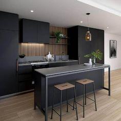 Decoração de cozinhas planejadas modernas com ilha