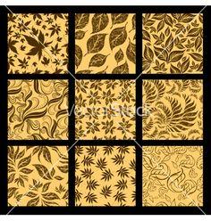 Autumn patterns  vector - by kynata on VectorStock®