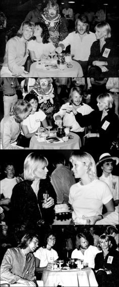 """ABBA North American & European Tour 1979 -Los Angeles. """"The best show so far"""" is the general opinion. There are a lot of well know faces in the audience: Britt Ekland, Ron Wood from Rolling Stones and disco queen Donna Summer. They love the show. Big press party after the show. Agnetha goes to the hotel earlier than the others. Linda is tired and she has to go to bed. Party after the show on September 21st with among others Britt Ekland."""
