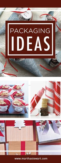Try these creative ideas for packing and presenting holiday cookies, using cellophane wrappers, decorated gift boxes, and more.