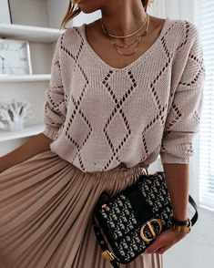 Knitting Designs, Knitting Patterns, Knit Fashion, Womens Fashion, Style Fashion, Crochet Clothes, Pulls, Ideias Fashion, Knitwear