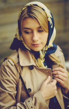 Head Scarf Tying, Head Scarfs, How To Wear Scarves, We Wear, Silk Scarves, Classic Style, Compliments, Going Out, Beautiful Women