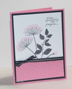 handmade card from Jills Card Creations ... luv how pink looks with gray and black .... Summer Silhouettes stamps ... good basic design ... like this card!! ... Stampin' Up!