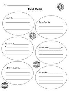 Literary Elements - Snow Similes Speech Language Pathology, Speech And Language, Language Arts, 4th Grade Ela, 5th Grade Reading, Sentence Stems, Literary Elements, Figurative Language, Simile
