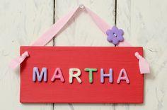 Girl's Bedroom Door Plaque - Red £10.95