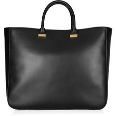 The Row XL Day Luxe leather tote ($3,100) ❤ liked on Polyvore featuring bags, handbags, tote bags, purses, bolsas, borse, black, black leather purse, black tote bag and tote