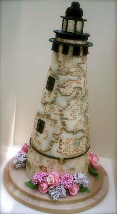 Lighthouse Wedding - by bumbleberries @ CakesDecor.com - cake decorating website