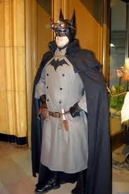 Haha! Batman!  http://i192.photobucket.com/albums/z167/Great_WhiteSnark/Steampunk_Batman_Costume.jpg