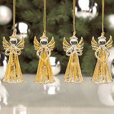 Gold Angel 4-piece Ornament Set by Lenox