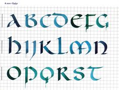 gorgeous calligraphy sample ... colored ink in pen ... Interview with Albrecht Clauss   The Postman's Knock