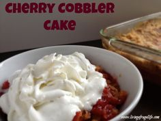 I LOVE this frugal cherry cobbler cake recipe.  It is SO easy to make and it is super good.  Dump cake recipes are great ones to have when you need a quick dessert. I lover cherry cobbler and cake ...