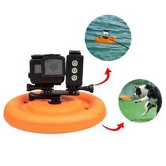 a water sports floating disc dog toy frisbee for gopro hero 6 5 4 3 3 2 1 sjcam