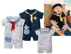 cute baby boy clothes | Newest Baby Clothing Baby Boys' Cute Navy Romper Baby Climbing Clothes ...