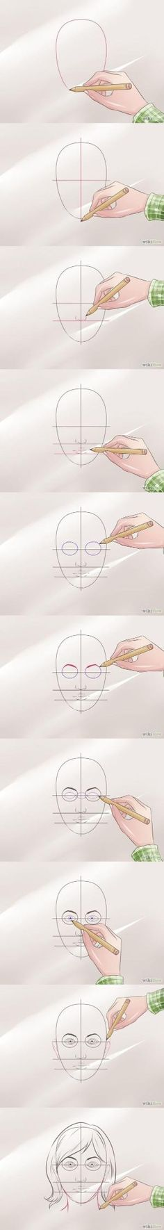 How to draw a face Step by step tutorial Wikihow #draw #face #drawing #how to by olga by olga