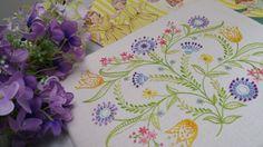 Transfered Embroidery Kit 'Dotty' BrightNEW