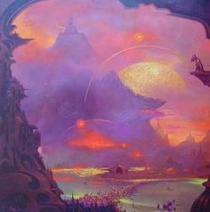 Paul Lehr is one of the greatest future-fantasist painters of the post-pulp era. Space Fantasy, Sci Fi Fantasy, Thelma Y Louise, Sci Fi Wallpaper, Apocalypse, Arte Sci Fi, 70s Sci Fi Art, Classic Sci Fi, Alien Worlds