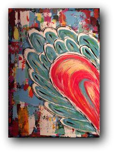 Flying Heart - Corazón Del Vuelo | Gemälde in Acryl auf einer 50 x 70 x 1,5 cm Leinwand. Zeitgenössische Gestaltung mit hinreißenden Farben. Die Ränder sind in schwarz bemalt. http://www.tomglasauer.de/visual-artist/flying-heart-corazon-del-vuelo/ #Palettenmesser #PaletteKnife #Gemälde #Kunst #Bild #abstrakt #modern  von #TomGlasauerVisualArtist