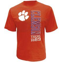 NCAA Men's Big & Tall Graphic T-Shirt - Clemson Tigers, Size: 4XL, Red