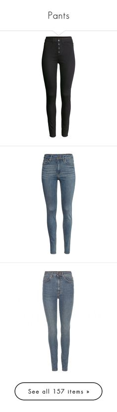 """Pants"" by virgdollasign ❤ liked on Polyvore featuring pants, jeans, bottoms, h&m, trousers, black, stretch trousers, faux-leather pants, high-waisted pants and stretch pants"