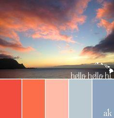 Hawaiian luau color scheme