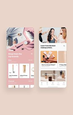 Cosmo Beauty App UI Kit is a pack of delicate UI design screen templates that will help you to design clear interfaces for beauty / cosmetic shopping app faster and easier. Compatible with Sketch App, Figma & Adobe XD Mobile Ui Design, App Ui Design, Interface Design, Onboarding App, Makeup App, App Design Inspiration, Mobile App Ui, Beauty Book, Web Design Services
