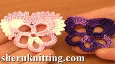 CROCHET PANSY FLOWER Tutorial 83. http://sheruknitting.com/videos-about-knitting/crochet-flower-lessons/item/692-crochet-pansy-flower.html To make a beautiful pansies you just need to complete 2 rounds of stitches. This 5 petal pansy flower has 2 large petals and 3 small ones. If you wish you can work and extra row of single crochet and picot trim over 2 large petals to give a completely different look to your flower.