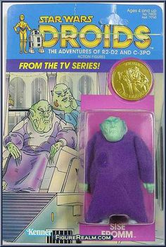 """Action figure for Sise Fromm, a criminal kingpin from the """"Star Wars: Droids"""" cartoon released in the 1980s"""
