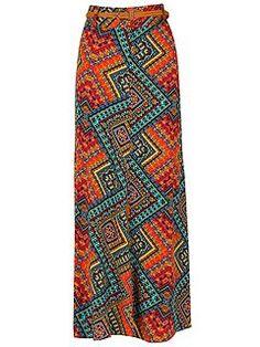 Aztec Print Maxi Skirt £22 House of Fraser