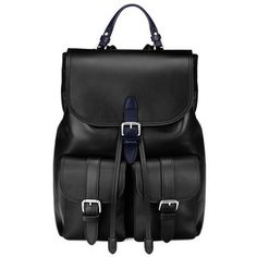 Aspinal of London Oxford Rucksack In Smooth Black